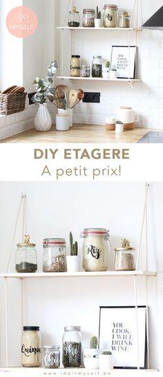 DIY Etagère suspendue à petit prix! Suivrez le tutoriel pour la réaliser chez vous!