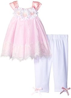 Rare Editions Girls Floral and Lace Legging Set PinkWhite 6 Months -- For more information, visit image link.Note:It is affiliate link to Amazon.