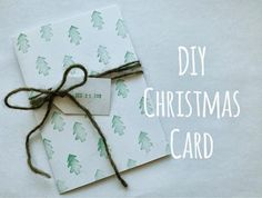 diy christmas crafts : DIY Christmas Card... in October