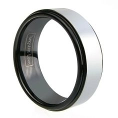 Mens Ladies Two Tone Tungsten Carbide Wedding Band High Polished 8mm Ring Tungsten Love. $23.99. Comfort Fit Inner Band. Two Tone Tungsten Ring. High Pplished. Thickness: 2.3 to 2.5mm, Width: 8mm