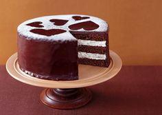 Valentine's Day *Food* - Chocolate Layer Cake with Vanilla Cream Filling (recipe)