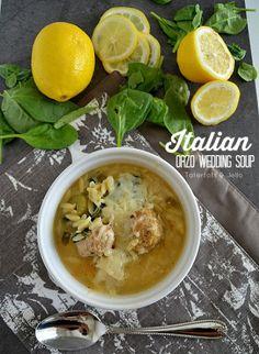 Homemade Italian Orzo Wedding Soup! -- Tatertots and Jello