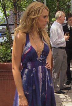 2x2 Never Been Marcused - Serena van der Woodsen (Adam Long Halter Dress + Margo Morrison New York Necklace).