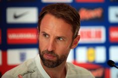 HERTFORD, ENGLAND - JUNE England Manager Gareth Southgate during during an England training session and press conference at The Grove Hotel on June 2018 in Hertford, England. (Photo by Marc Atkins/Offside/Getty Images) England National Football Team, National Football Teams, Gareth Southgate, Sport Man, Atkins, Conference, Daddy, June, Management
