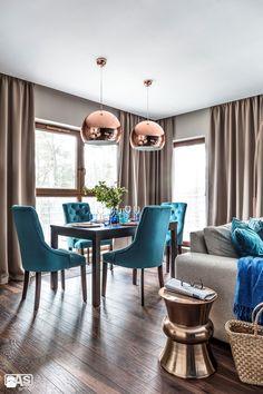 Nadmorski apartament - Jadalnia, styl nowoczesny - zdjęcie od SAS Wnętrza i Kuchnie