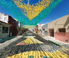 Brazil 2 Brazils Beautifully Painted Streets Welcome World Cup Fans