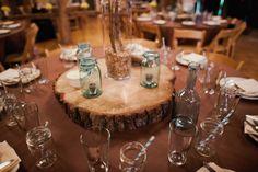 Centre de table mariage en bois