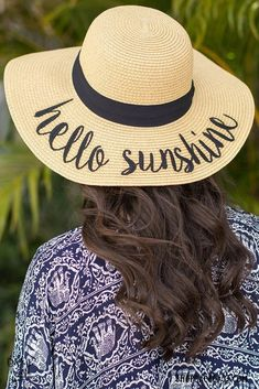 8e09510b1cfa5 Hello Sunshine Floppy Sun Hat Get beach ready with our Hello Sunshine hat.  These cuties are flying off the shelves