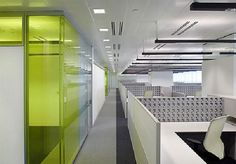 Commercial Office Interior Design Ideas for New Office Atmosphere : Commercial Office Interior Design Ideas White PArtition Glass Wall Hidden Lamps