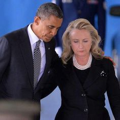President Obama and Secretary of State, Hillary Clinton  Andrews Air Force Base  September 14, 2012