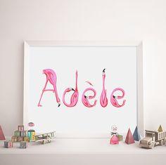 Die Vornamen des Kindes geschrieben mit den Buchstaben von meinem Alphabet der Flamingos! Plakat, einzigartige und niedlich. perfekt, um den Raum für ein Kind oder ein Baby zu verzieren. Bei der Bestellung, schreiben Sie mir den Namen, den, dem Sie möchten, dass ich zu zeichnen. Gib mir 3-5 Tage für die Lieferung. Das Plakat wird sehr gut verpackt sein, um in einwandfreiem Zustand ankommen. Frame nicht enthalten. Formate: 8 x 10 11 X 14 11 17 (empfohlen für die Vornamen der 8 Buchstaben u...