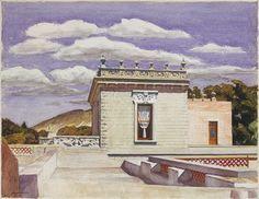 Saltillo Mansion, 1943 Edward Hopper (American, 1882–1967) Watercolor on paper