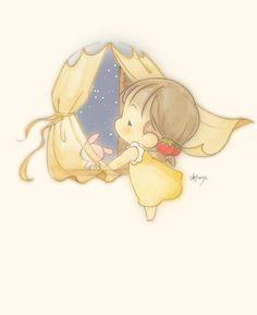 """La """"buonanotte"""" più importante la si manda sempre col pensiero, alla persona che ci manca di più."""