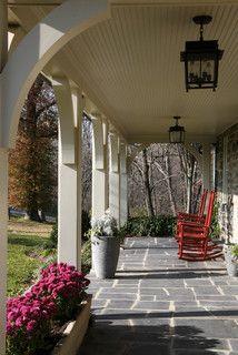 front porch columns with grey paint | under construction ... - Patio Columns Design