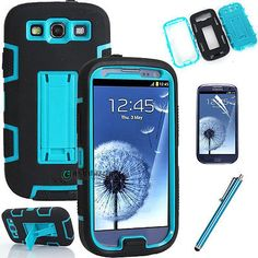 Hybrid-Best-Impact-Holder-Flip-Stand-Hard-Case-Cover-for-Samsung-Galaxy-S3-i9300