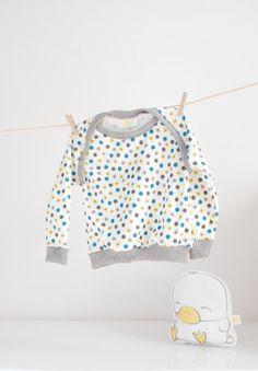 Organic cotton sweatshirt ecofriendly ink by kupukupukids on Etsy, €30.00