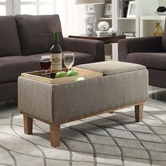 Designs4Comfort Brentwood Storage Ottoman | Overstock.com Shopping - The Best Deals on Ottomans
