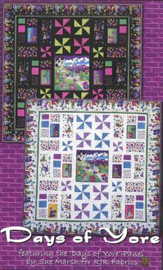 Day of Yore Quilt Pattern WHC-1223 by Whistlepig Creek Productions - Sue Marsh. Pieced quilt pattern. Lap and throw.