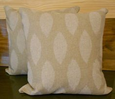Pair of Natural beige ikat dots decorative pillow covers, throw pillows. $52.00, via Etsy.