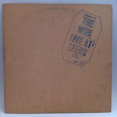 The Who Live At Leeds Vinyl Record LP 1970 Psych Classic Rock with 8 Inserts