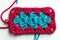 Finished Crochet Granny Rectangle
