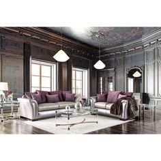 Furniture Of America Linwood Clic Contemporary 2 Piece