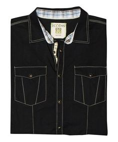Another great find on #zulily! Black Tallac Short-Sleeve Button-Up #zulilyfinds I love this companies MIssion Statement. And their clothes look comfortable and stylish.