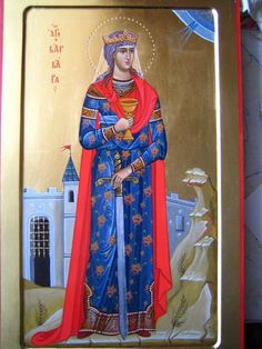 Saint Barbara, Russian Icons, Russian Orthodox, Patron Saints, Orthodox Icons, Sculpture Art, Photo Wall, Female, Photograph