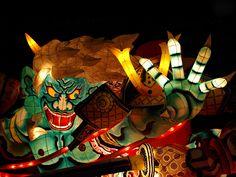 Aomori Japan, 1995. Nebuta Festival of the lights. Amazing.