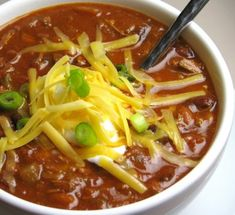 Healthy Chili - This was the best chili I have ever had - though I altered it quite a bit! Alterations:  3 T agave, only 1t of salt, 1.5T chili powder, and 1/2 t of garlic powder, 1 full pepper, 1t. cumin, 1-2 cups of chicken broth, 2t of raw cocoa powder, 1/2 cup water. (Used non-canned diced tomatoes and immersion blend veggies before adding other ingredients) Delicious!