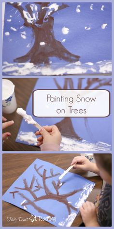 Creating winter trees is a breeze! Learn how at fairydustteaching.com!