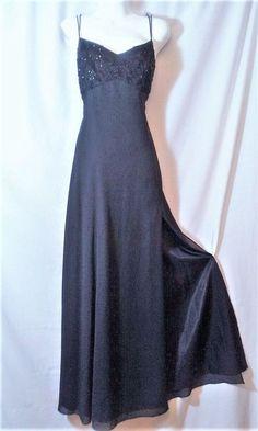 e6a0f09cd285 SEXY Black Chiffon Empire Waist Beaded Gown Prom - Formal Evening Dress 8 M
