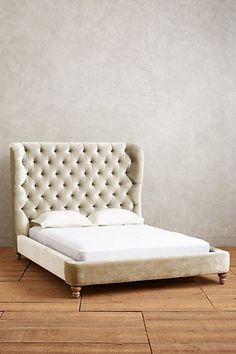 Velvet Tufted Wingback Bed - anthropologie.com #anthroregistry