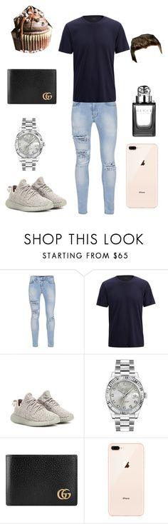 """Cupcake Date BF Style"" by fashionistagirl989898 ❤ liked on Polyvore featuring Topman, Joseph, adidas Originals, Rolex, Gucci, Payne, men's fashion and menswear"