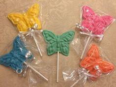 BUTTERFLY CHOCOLATE LOLLIPOP Birthday by DeliciousCandyCo on Etsy