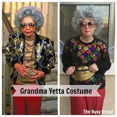 Grandma Yetta Costume I am a HUGE fan of The Nanny. It's for sure in my top 5 favorite shows of all time. I have this dream of being each of The Fine women for… Grandma Halloween Costume, Beard Halloween Costumes, Twin Halloween, Adult Costumes, Costumes For Women, Costume Zombie, Diy Costumes, Costume Ideas, Party