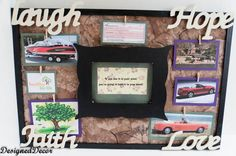 I keep a Law of Attraction Vision Board in my bedroom. by DeDe Bailey Law Attraction, Simply Life, Creating A Vision Board, Inspiration Boards, Board Ideas, Diy Home Decor Projects, Diy And Crafts, Make It Yourself, Dream Boards