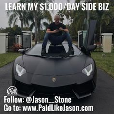 Want to know how I just bought this new Lamborghini Aventador with money made online from Instagram!  Follow my personal @jason__stone  and click my bio link because Im showing you how it was done with my new online system, Click the link in my bio to learn more  @jason__stone