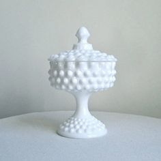 In Quality Careful Vintage Fenton Silver Crest Milk Glass Footed Crimped Ruffle Edge Bowl Dish Superior