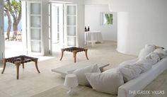 The Greek Villas, Mykonos Villa Callas. Luxury Villas In Greece, Mykonos Villas, Mediterranean Design, Greece Holiday, Luxury Villa Rentals, House By The Sea, Beautiful Villas, Vacation Villas, Floor Chair
