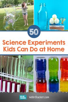 50 Easy Science Experiments Kids Can Do At Home With Stuff You Already Have. It doesn't take a rocket scientist to conduct these easy science experiments, using items you already have in your kitchen, bathroom, or backyard. Preschool Science, Teaching Activities, Science Classroom, Teaching Science, Stem Teaching, Preschool Kindergarten, Teaching Strategies, Craft Activities, Teaching Ideas