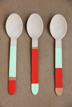 painted cutlery from http://www.thinkgarnish.com/  Great site!