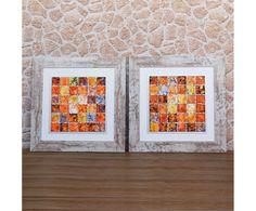 Set de 2 cuadros Abstracto, multicolor - 70x70 cm