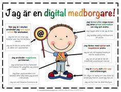 Digitalmedborgare.png - Google Drive Citizenship Education, Digital Citizenship, Cyber Safety, 21st Century Skills, Drawing Tablet, Digital Technology, Classroom, Peanuts Comics, Teaching