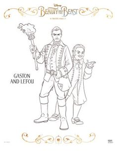 gaston coloring pages.html