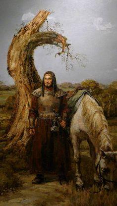 Hunlar / Huns (Resim: Çin, Henan müzesi) Mongolia, Hungary History, Attila The Hun, Medieval, Age Of Empires, Exotic Art, Warrior Spirit, Viking Warrior, Historical Art