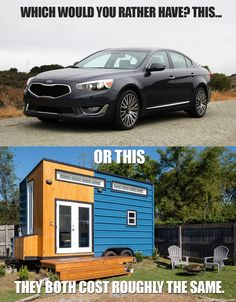 A well-equipped tiny house costs about the same as a based model Kia Cadenza.
