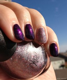 Nicole by OPI Here We Kome A-Karoling with All is Glam, All is Bright