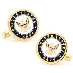 Enamel US Navy Cufflinks