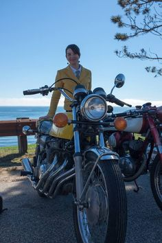 Vintage Steele at the Distinguished Gentlemen's Ride - Sarah and her CB400 Four Super Sport